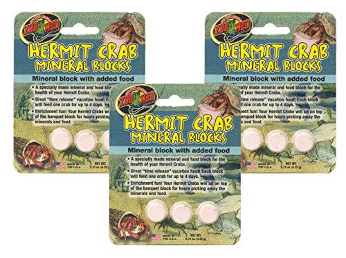 Zoo Med Laboratories SZMHC62 Zoo Hermit Crab Mineral Blocks (1 Pack of 3 Blocks) ()