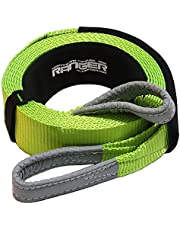 """Ranger 3"""" x 20' Tow Strap Tree Saver for Winch Recovery Heavy Duty with Reinforced Loops + Protective Sleeves 30,000 lb Breaking Capacity 13.6 Tons"""