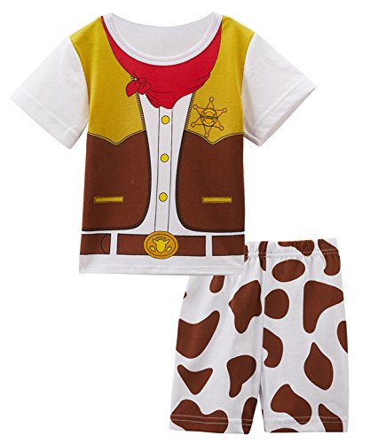 Mombebe Baby Boys' Western Cowboy Costume Short Set (6-12 Months) - 9-12 Month Cowboy Costume