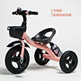 Child Tricycle Bicycle 1-3-2-6 Years Old Large Child Car Baby 3-Wheel Bike(Pink)