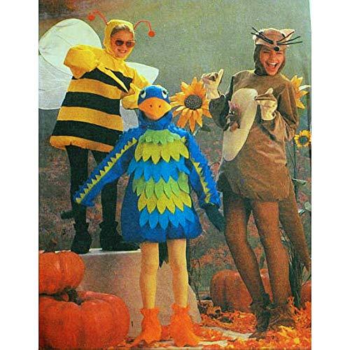 Dress up Pattern Halloween Costume Bird, Bee and Kangaroo Size 6 to 8 Child]()