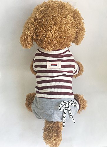 Pictures of EastCities Dog ClothesSmall Dogs Pajamas Puppy OutfitBrown 6