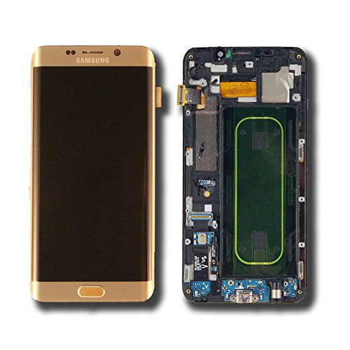 Touch Screen Digitizer and LCD with Frame for Samsung Galaxy S6 Edge Plus - G928V - Gold Platinum by Group Vertical