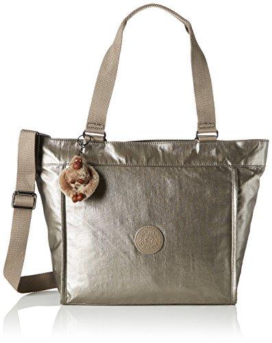 Kipling - New Shopper S, Borse Tote Donna Oro (Metallic Pewter)