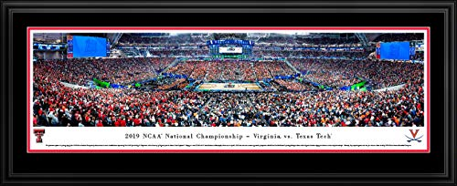 2019 NCAA Basketball Championship - Virginia vs Texas Tech - Double Mat, Deluxe Framed Picture by Blakeway Panoramas