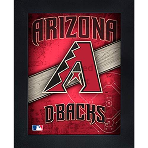 Arizona Diamondbacks 3D Poster Wall Art Decor Framed Print | 14.5x18.5 | Lenticular Posters & Pictures | Memorabilia Gifts for Guys & Girls Bedroom | MLB Baseball Sports Team Fan Poster for Man Cave