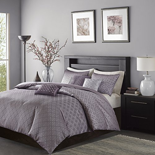Biloxi 6 Piece Duvet Cover Set Purple - Piece Duvet 6 Set