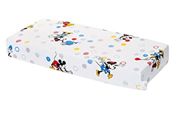 drap housse mickey HEVEA Disney, Mickey et Minnie Drap Lit Bébé 120 x 60 cm: Amazon  drap housse mickey