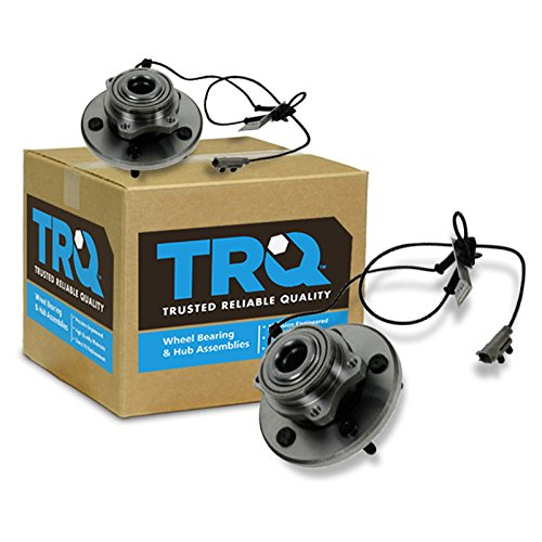 TRQ Front Wheel Hubs & Bearings Pair Set for 04-06 Chrysler Pacifica w/ABS