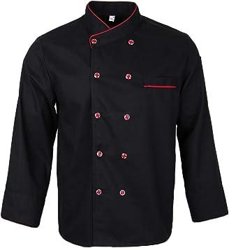 Men Women Chef Jacket Coat Long Sleeve Shirt for Food Service Hotel Working Wear