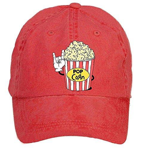 Sungboys Unisex Popcorn Sports Baseball Hats Caps (Womens Charlie Hat Adjustable)