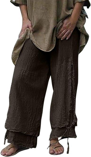 Pantalones para Mujer Pantalones Casuales de Personalidad de AlgodóN y Lino de Color SóLido de Moda para Mujer 2019 Nuevos Pantalones de AlgodóN y Lino: Amazon.es: Ropa y accesorios