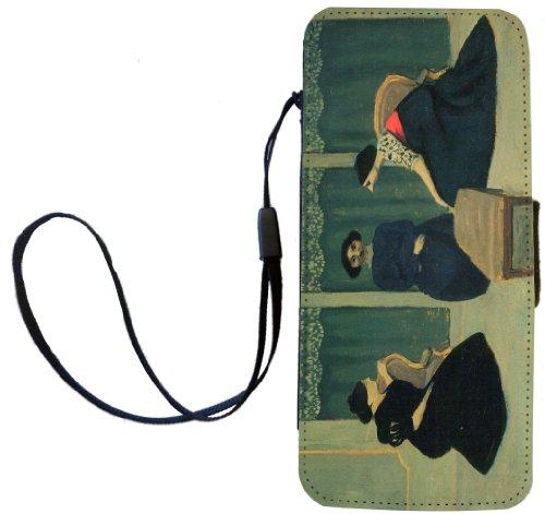 Rikki Knight Felix Vallotton Art Gossip Flip Wallet iPhoneCase with Magnetic Flap for iPhone 5/5s - Gossip
