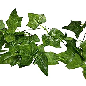 8 Ft Silk Artificial Ivy Vine Cheap Artificial Flowers ,Grape Leaves,Pack of 2
