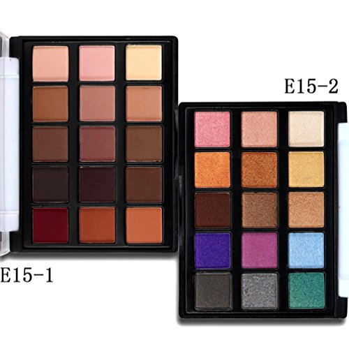 Review Misaky 15 Colors Nature Eyeshadow Make Up Cream Palette-Neutrals Warm Smooth Eye Shadows (# A)