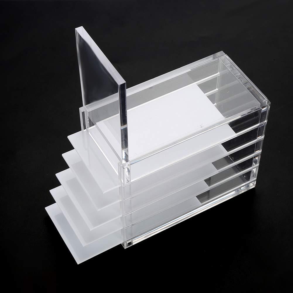 Storage makeup organizer per cosmetici in acrilico trasparente scatola di immagazzinaggio ciglia finte colla extension Sonew