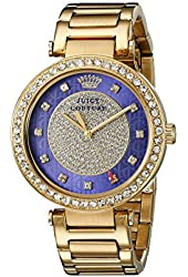 Juicy Couture Women's 1901267 Luxe Couture Analog Display Quartz Gold Watch