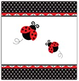 """Creative Converting Ladybug Fancy Plastic Table Cover, Rectangle 54 X 108"""""""