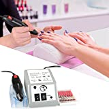Professional Nail Drill Machine for Acrylic Nails Electric Nail File Machine Nail Art Polisher Nail Drills Bits Sets Tools Manicure Pedicure - 1 Year Replacement Warranty