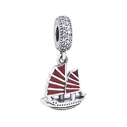 fd4afc86d Amazon.com: Sailing Boat Charm 925 Sterling Silver Ship CharmSport ...