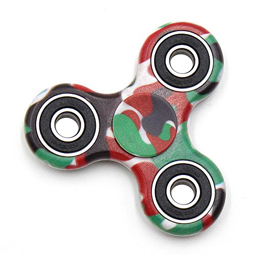 Cppslee Hands Fidget Spinner Toy Stress Reducer- Perfect For ADD, ADHD, Anxiety, and Autism Adult Children (#4 Camouflage green) -