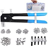 PLIFET Rivet Nut Tool Kit Set, 157 Pcs Blind Riveting Nuts tools Heavy Duty Hand Riveter, Wrench Threaded Insert Nutsert M3 M4 M5 M6 M8, Durable Robust Steel Aluminum Rivets Tool Set (157 PCS)