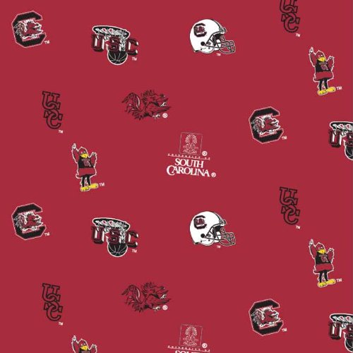 South Carolina Gamecocks Allover Fleece - Sold By the Yard