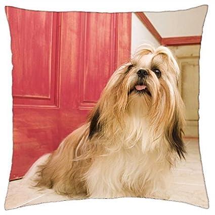 Amazoncom Shih Tzu Long Hair Dog Throw Pillow Cover Case 18