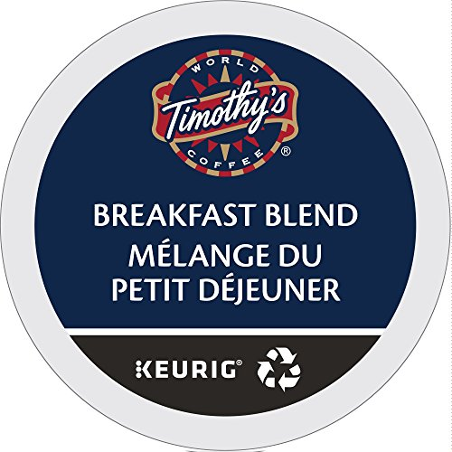 Timothy's World Coffee, Breakfast Blend, K-Cup Portion Pack for Keurig K-Cup Brewers 24-Count, 8.4 oz, (Pack of - Blend Breakfast Coffee Timothys
