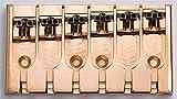 ABM 6-String Bridge Lock Saddle Gold Adj 3-1/4''--3-1/2'' Allparts BB-3510-002