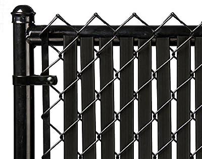 5ft Black Tube Slat for Chain Link Fence