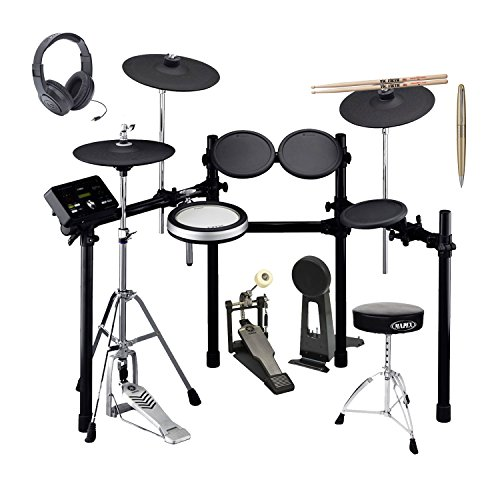 Yamaha Drum Thrones - Yamaha DTX532K 5-Piece Electronic Drum Set with 50 Onboard Drum Kits, Training Functions, 3-zone Cymbal/Snare Pads, Hi-hat Stand, Rack System(Drum Pedal not included) with Drum Sticks, Throne, Headpho