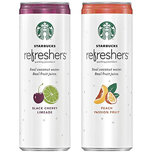Starbucks Refreshers with Coconut Water, 2 Flavor Variety Pack, 12 Fl Oz (Pack of 12) (Packaging May Vary)