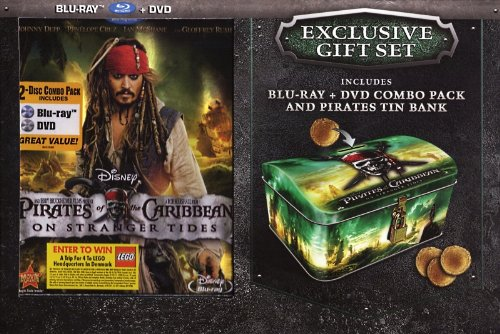 Pirates of the Caribbean: On Stranger Tides (Blu-ray DVD Combo Pack) (with Pirate Tin Bank)