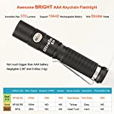 Best Small aaa Keychain LED Flashlight: UltraTac K18 2017-Version Key Chain Light, Brightest 370...