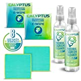 Calyptus Screen Cleaner Kit | Safe for Cleaning Digital Screen, Smart Phone, Tablet, iPad | Alcohol, Ammonia, VOC Free | 100% Natural, Plant Based, Non-Toxic | 8 Oz + 2X Calyptus E-Wipes