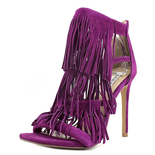 Boho-Chic Vacation & Fall Looks - Standard & Plus Size Styless - Steve Madden Women's Fringly Dress Sandal, Purple Suede, 6 M US