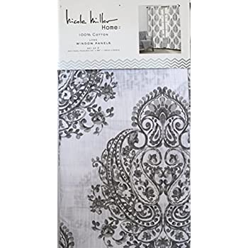 Amazon Com Envogue Pamela Damask Paisley Medallions Pair