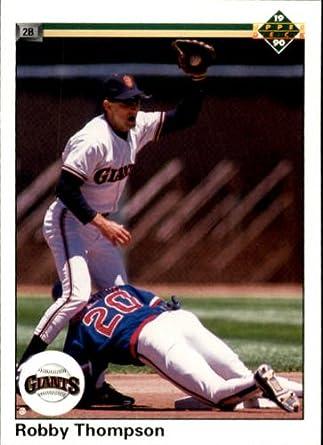 1990 Upper Deck Baseball Card #169 Robby Thompson