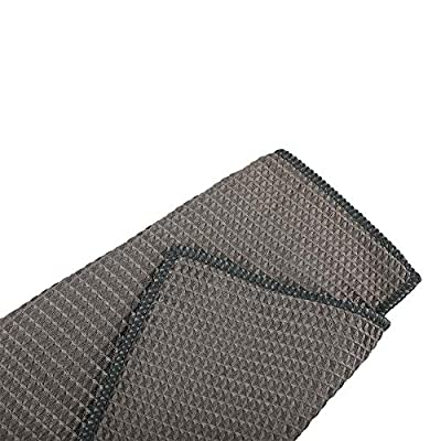 CAREMO Professional Microfiber Drying Towel Waffle Weave Car Auto Detailing Towels 3 Pack,15.7in x 15.7in (Dark Gray): Automotive