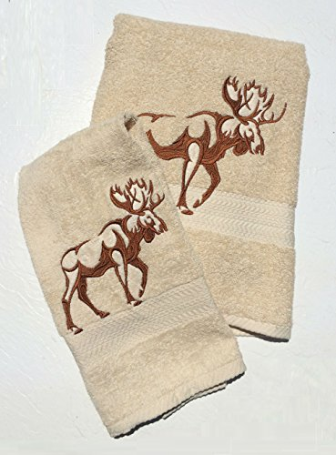 Abuela Chachy's Moose Bath Towel Set ~ 100% Cotton ()