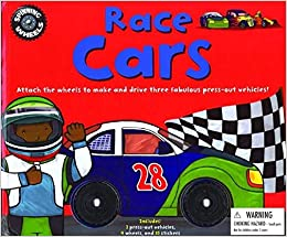 Spinning Wheels: Race Cars With StickersWith Wheels & Press-Out ...