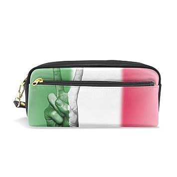 Estuche de piel con bandera de Italia para lápices ...