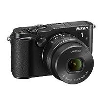 Nikon 1 V3 Fotocamera con Obiettivo Nikkor 10-30mm PD-ZOOM, FULL HD, 18,4 Megapixel, Micro SD 300x 16GB Lexar, Nero [Nital Card: 4 Anni di Garanzia]