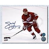 Steve Yzerman Detroit Red Wings Autographed Horizontal Action 8x10 Photo
