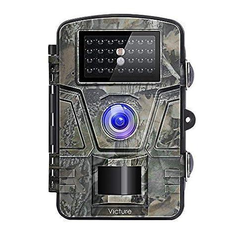 Victure Wild Cámara Visión Nocturna Detector de Movimiento Caza Cámara 12 MP 1080P 2.4 LCD Resistente al Agua Cámara para la Vigilancia de Animales: ...