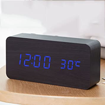 Dong Reloj Despertador Creativo LED Reloj electrónico Luminoso Reloj Digital Niños de Mesa Moderno Reloj de Mesa de Escritorio de Estudiante (Color : 2#): ...