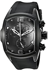 Invicta Men's 6724 Lupah Collection Chronograph Black Ion-Plated Black Rubber Watch