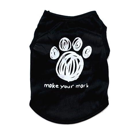 Desconocido Verano para Perros Imprimir Cartas Camisetas del Perrito Camiseta de Perrito Ropa Traje Ropa Abrigos