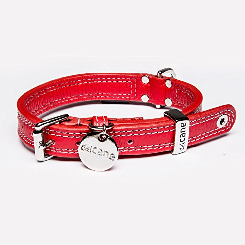 delcane The Mondo Rosso Leather Dog Collar (Small) ()